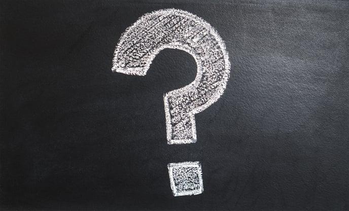 question mark chalk